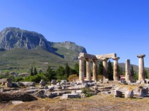Temple of Apollo in Ancient Corinth